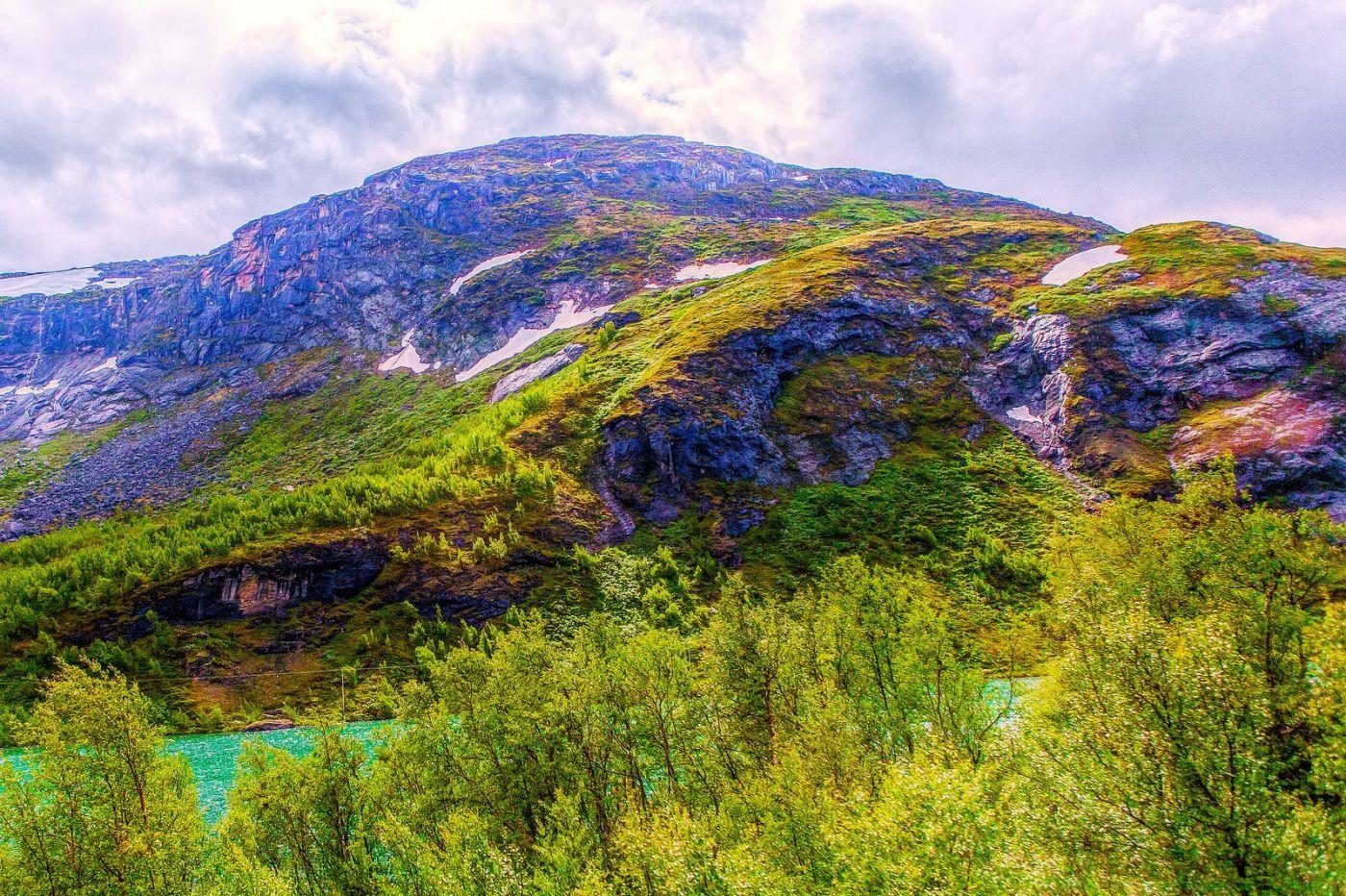北欧风光,高山残雪_图1-23