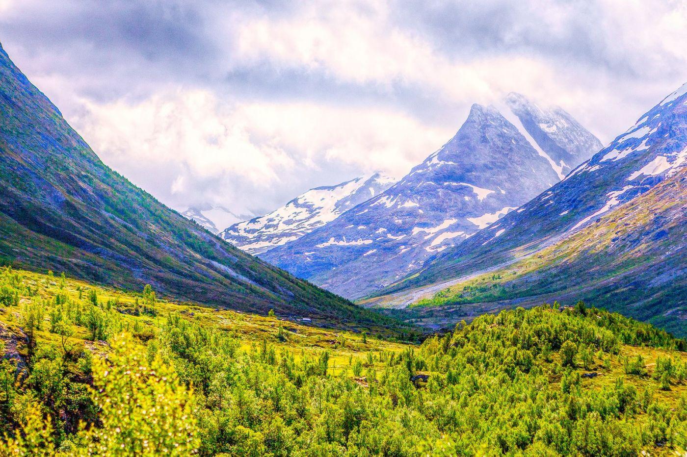 北欧风光,高山残雪_图1-24