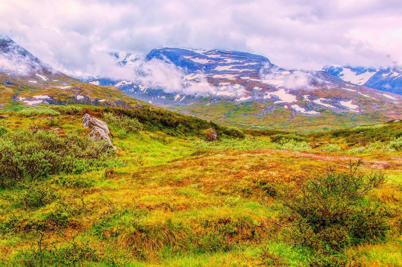 北欧风光,高山残雪_图1-27