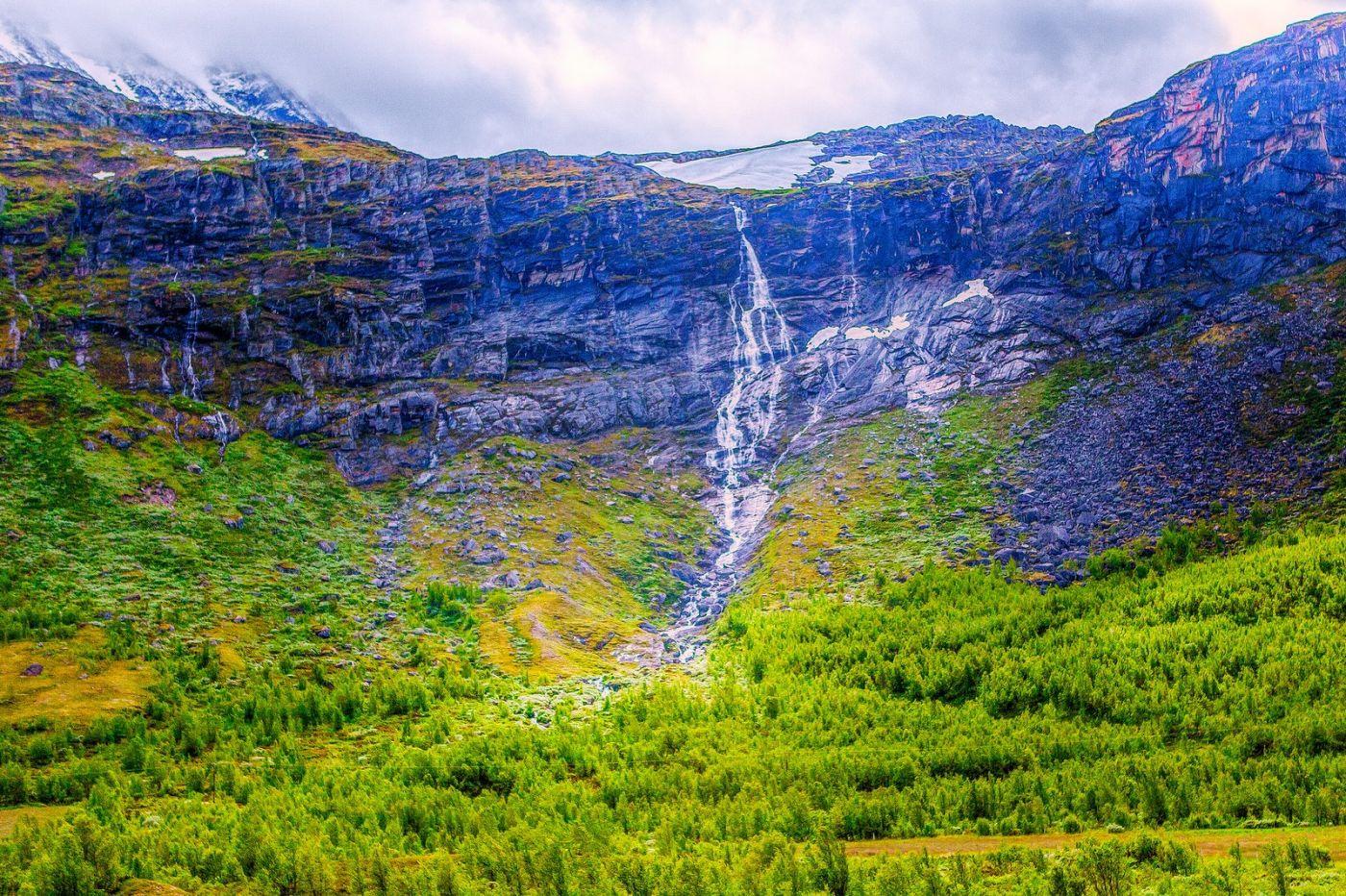 北欧风光,高山残雪_图1-31