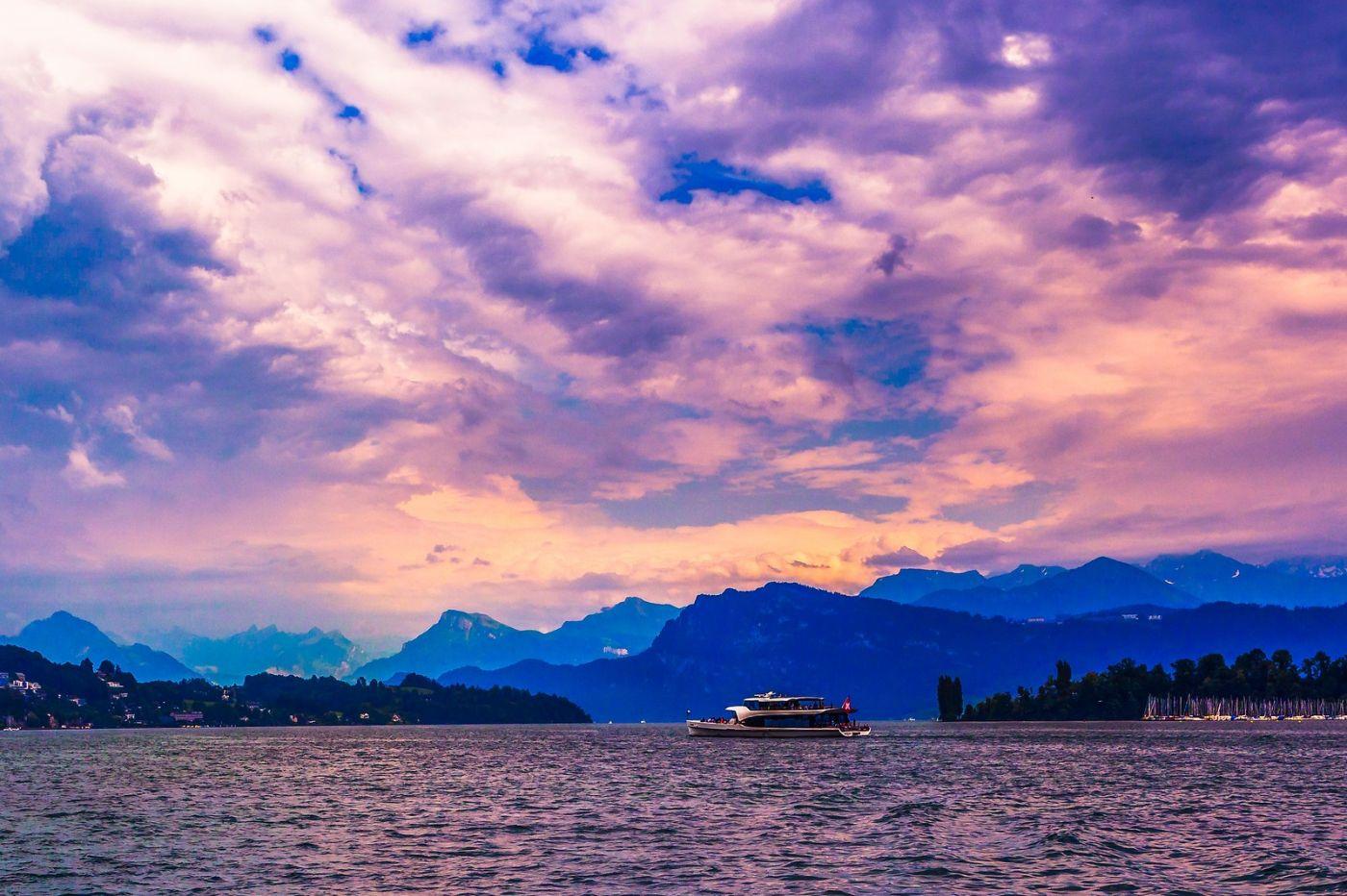 瑞士卢塞恩(Lucerne),浪漫的晚霞_图1-12