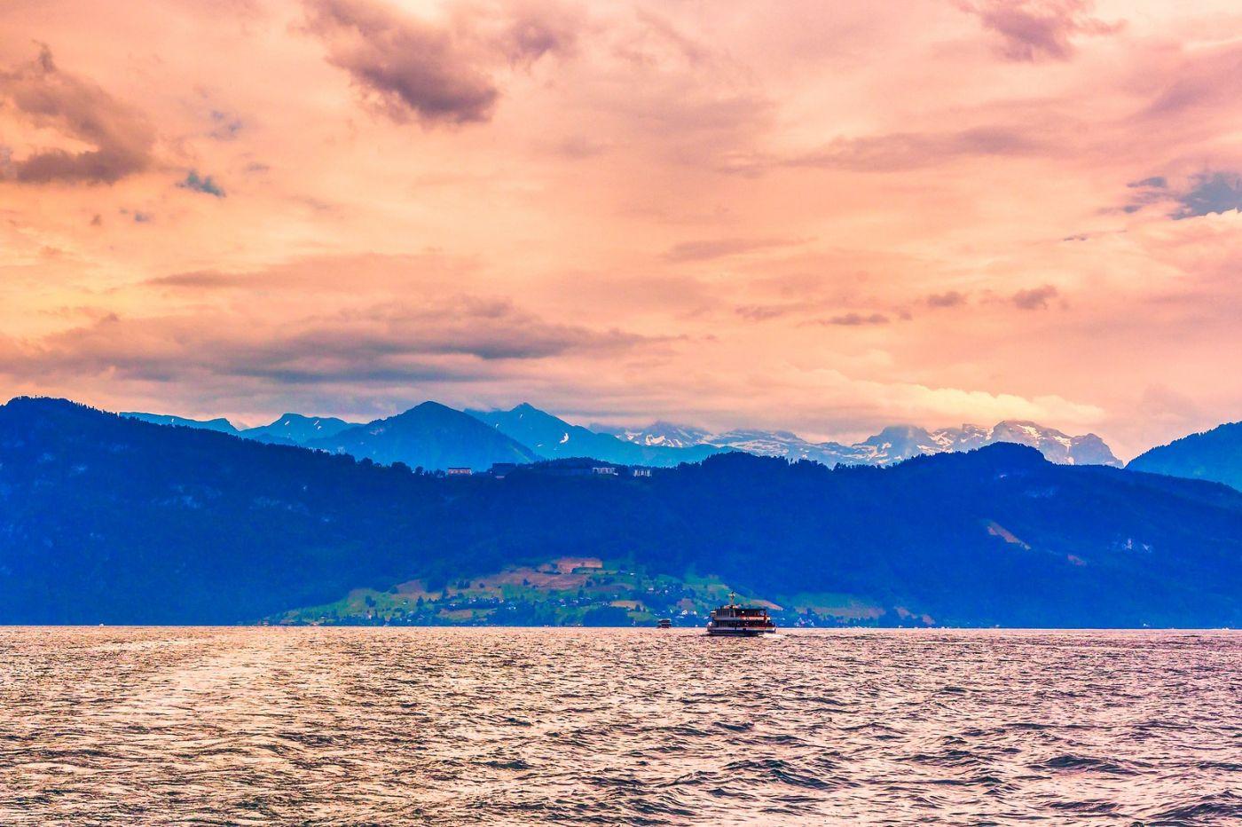 瑞士卢塞恩(Lucerne),浪漫的晚霞_图1-7