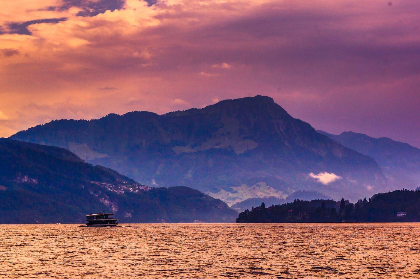 瑞士卢塞恩(Lucerne),浪漫的晚霞_图1-3