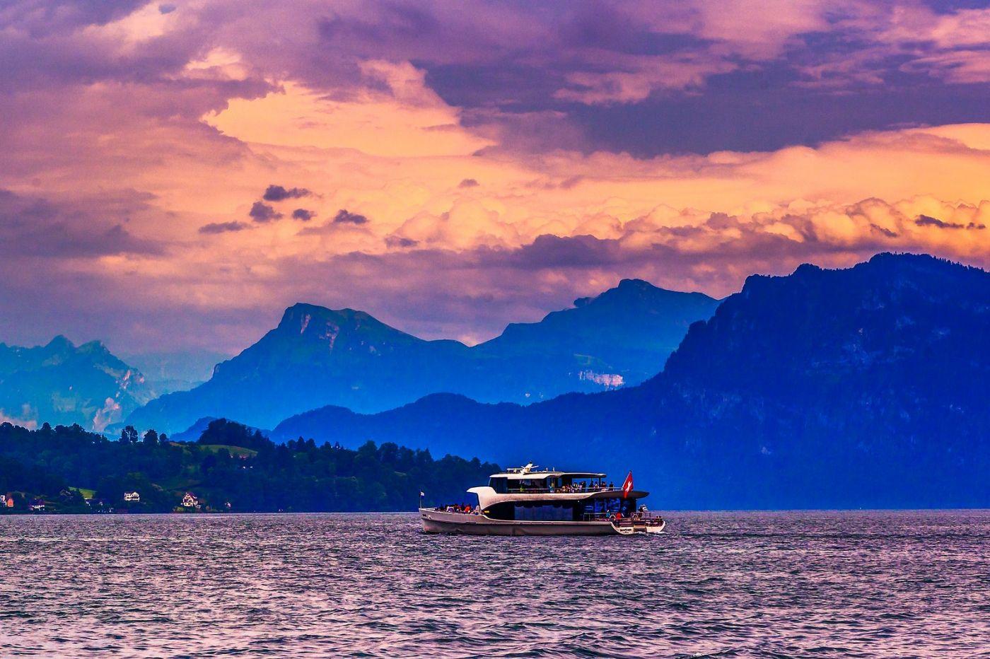 瑞士卢塞恩(Lucerne),浪漫的晚霞_图1-4