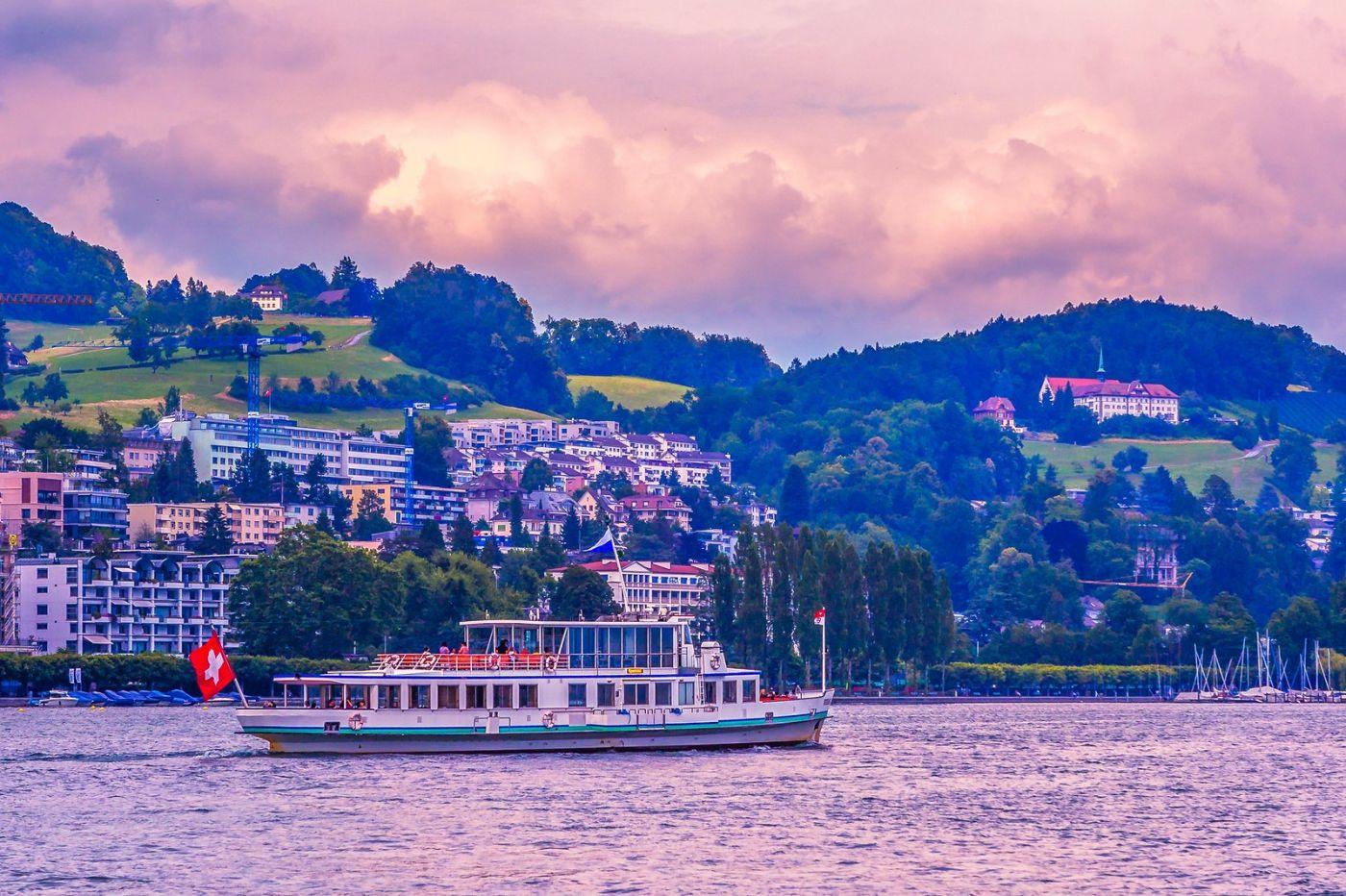 瑞士卢塞恩(Lucerne),浪漫的晚霞_图1-13