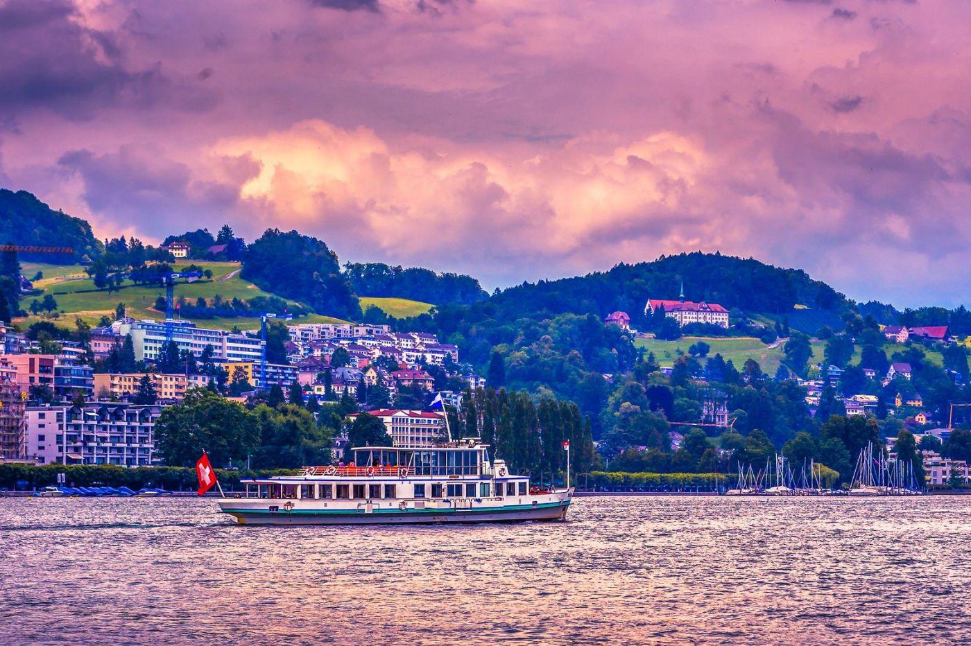 瑞士卢塞恩(Lucerne),浪漫的晚霞_图1-16
