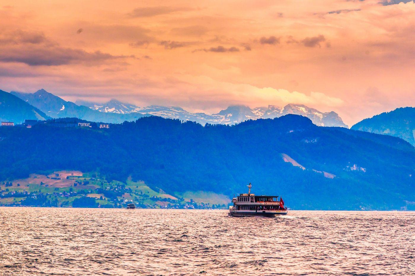 瑞士卢塞恩(Lucerne),浪漫的晚霞_图1-18