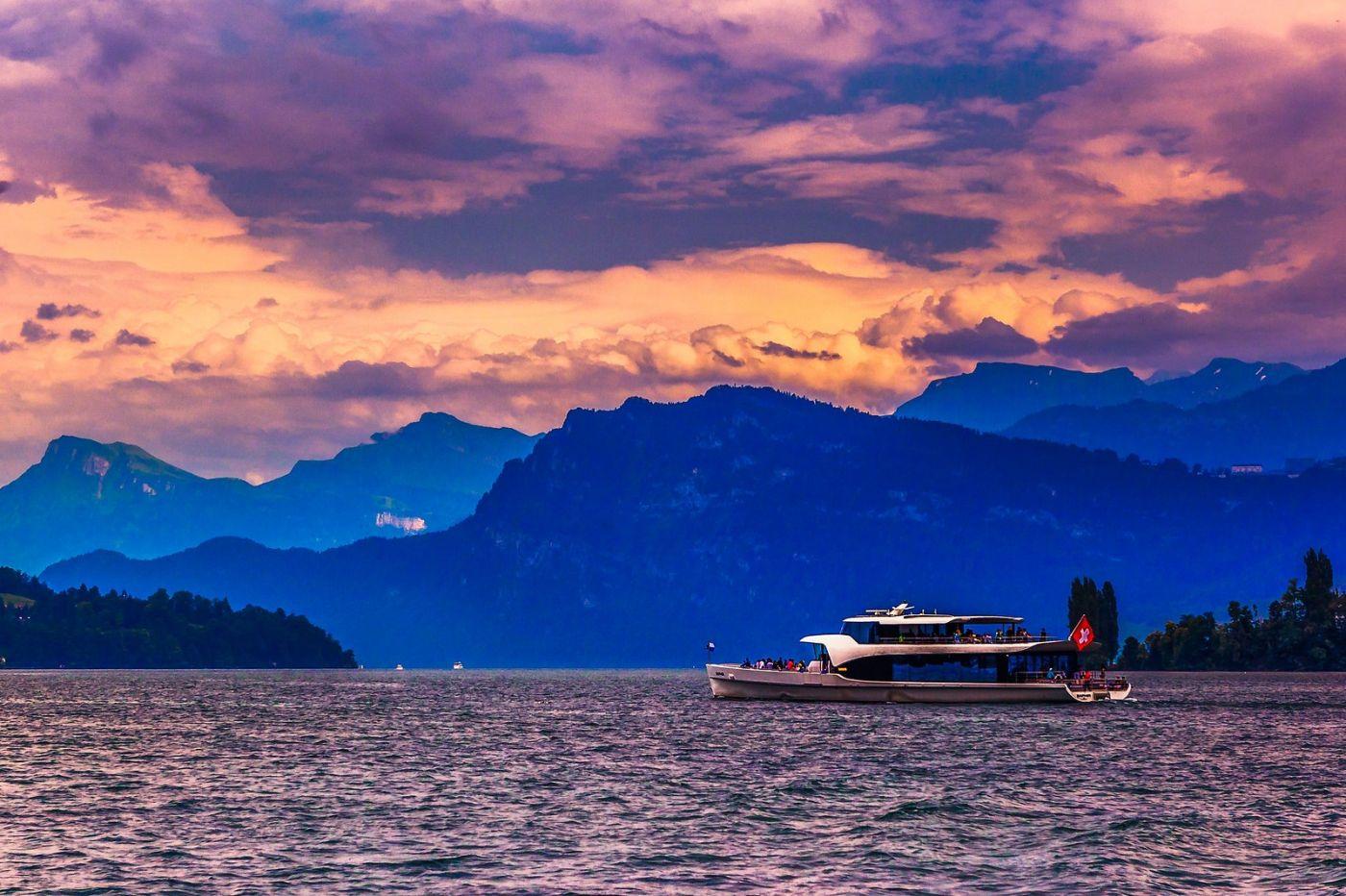 瑞士卢塞恩(Lucerne),浪漫的晚霞_图1-28