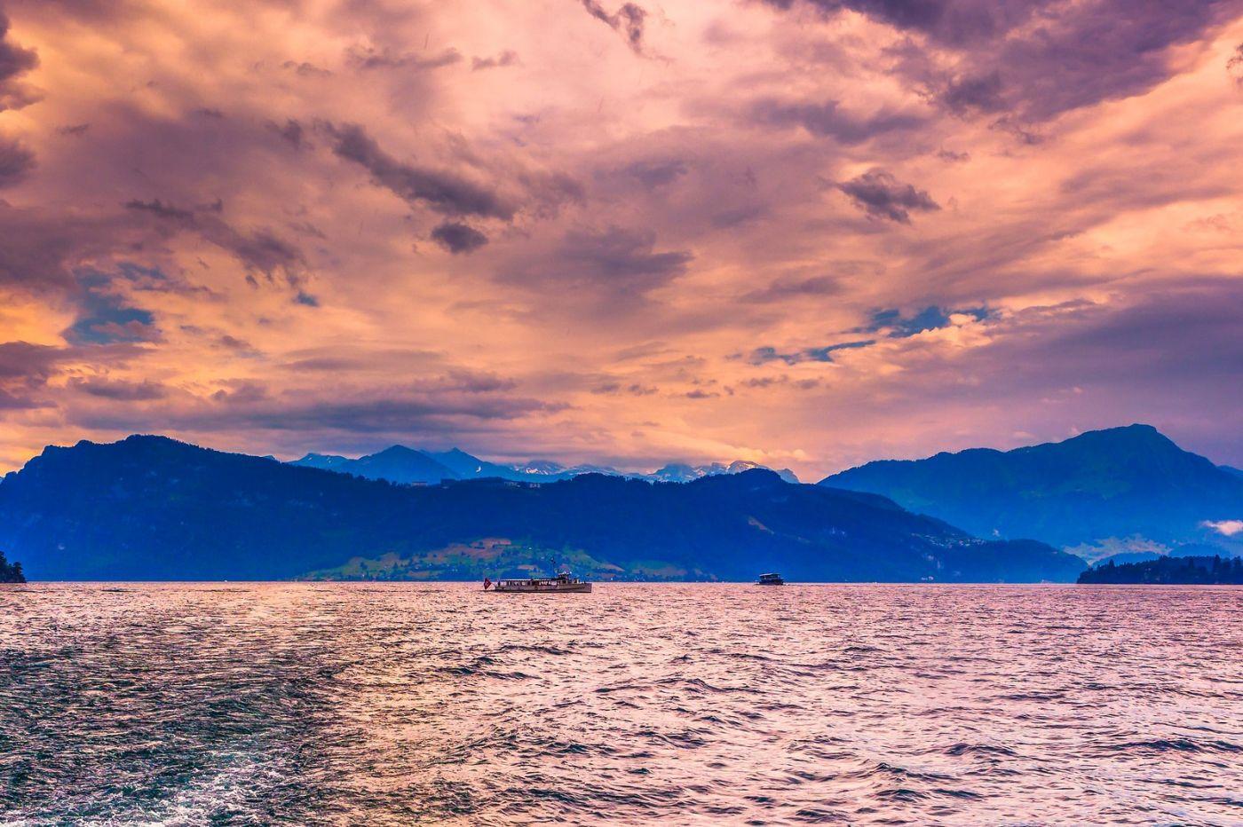 瑞士卢塞恩(Lucerne),浪漫的晚霞_图1-32