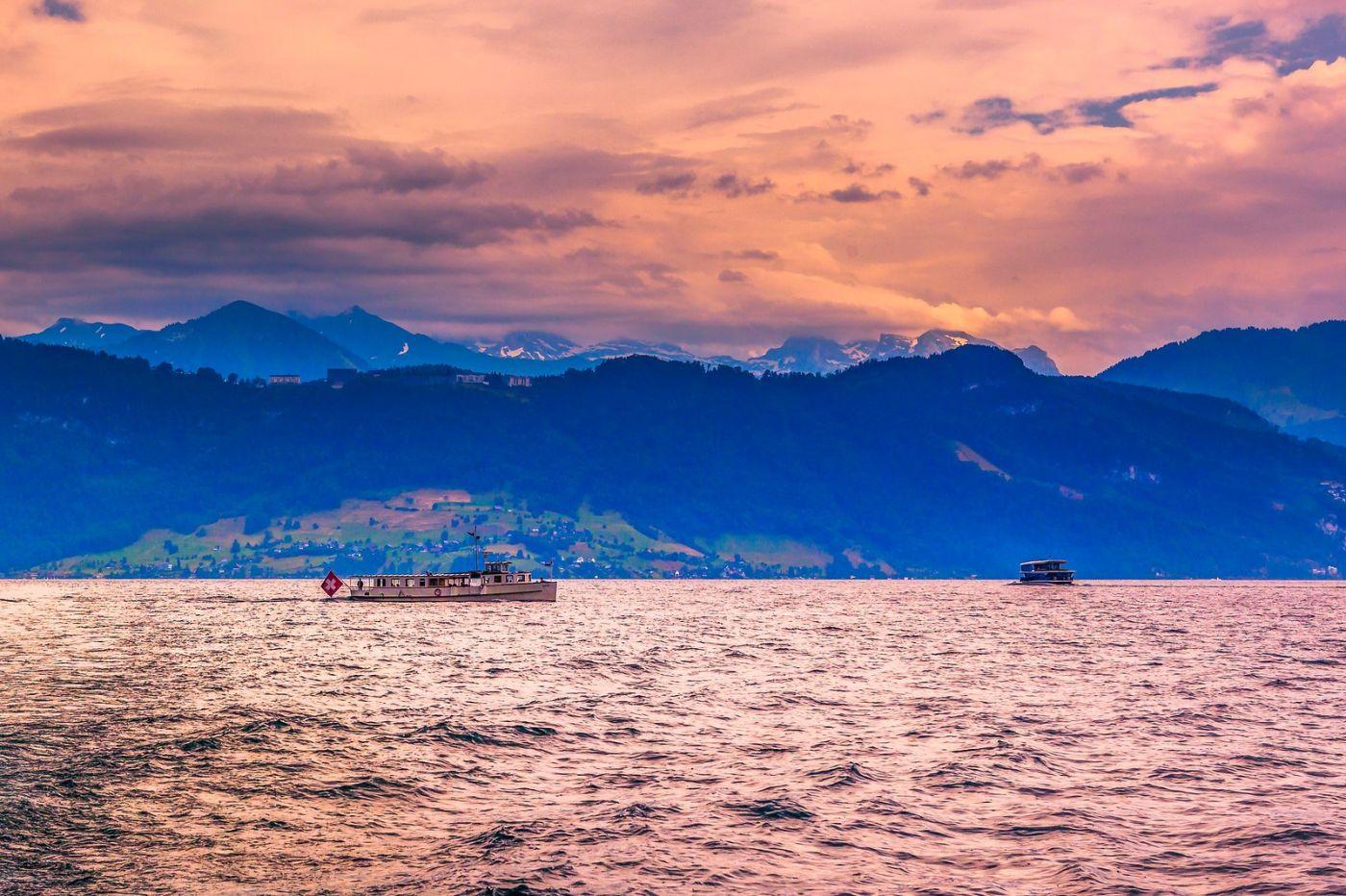 瑞士卢塞恩(Lucerne),浪漫的晚霞_图1-36
