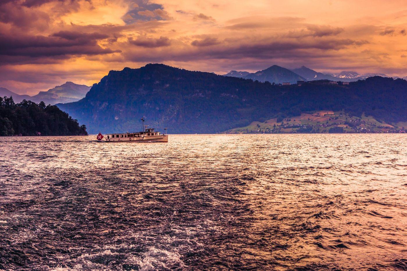 瑞士卢塞恩(Lucerne),浪漫的晚霞_图1-35