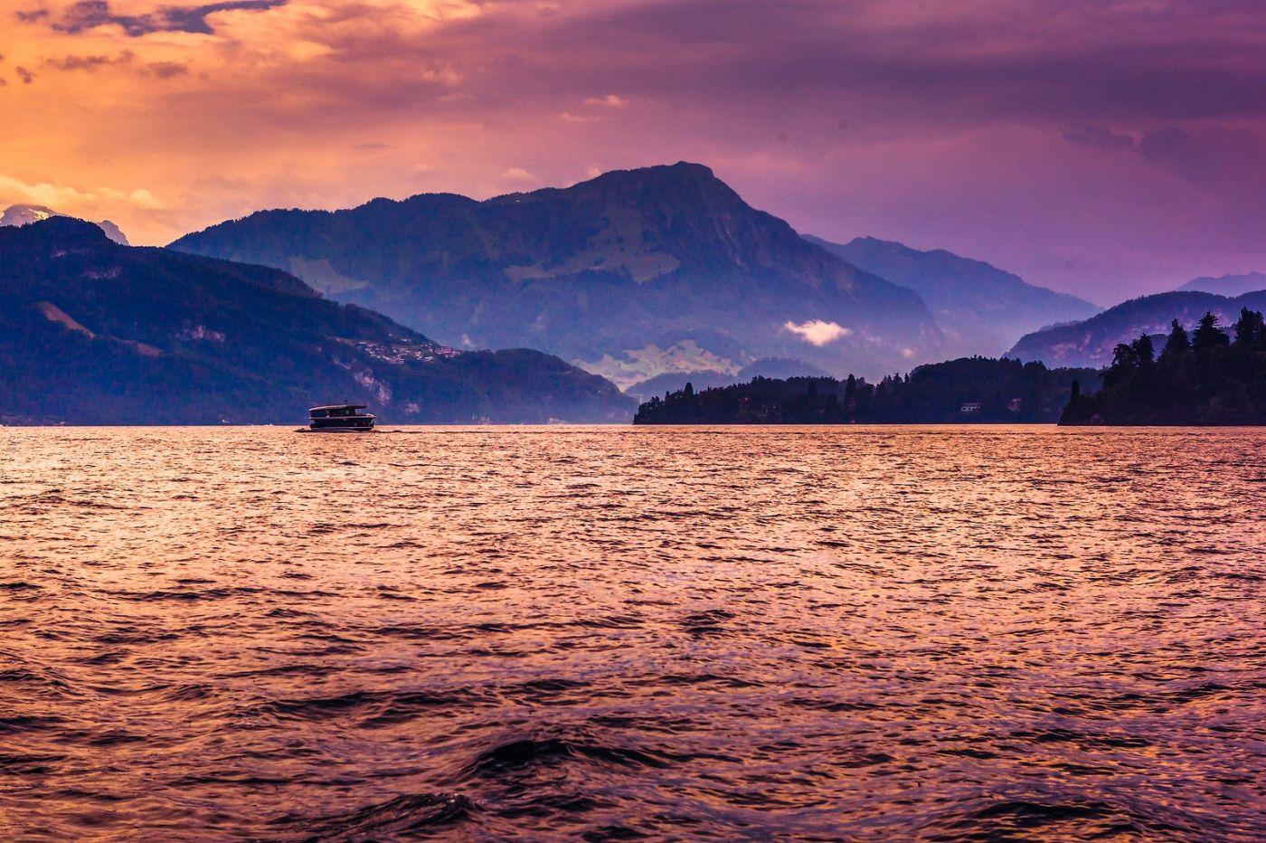 瑞士卢塞恩(Lucerne),浪漫的晚霞_图1-38