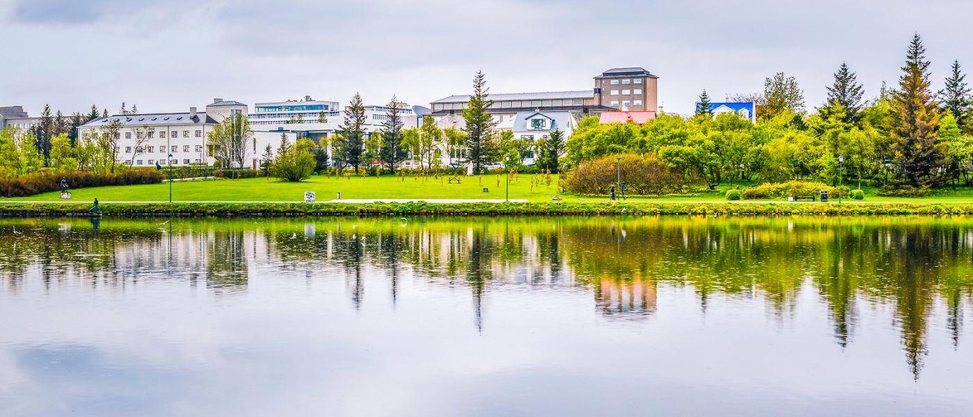 冰岛雷克雅未克(Reykjavík),城中湖_图1-39