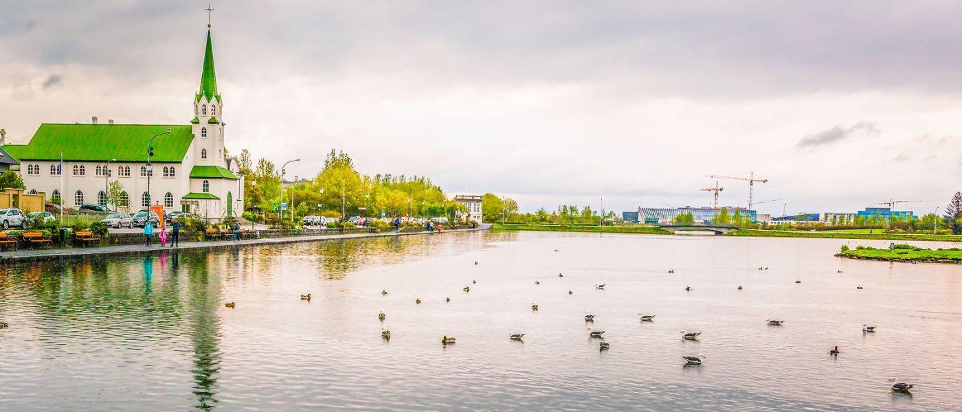 冰岛雷克雅未克(Reykjavík),城中湖_图1-32