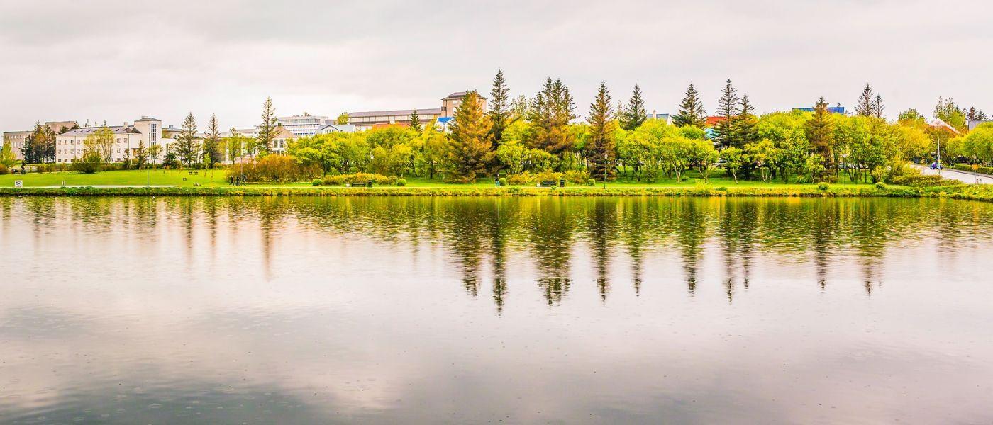 冰岛雷克雅未克(Reykjavík),城中湖_图1-24