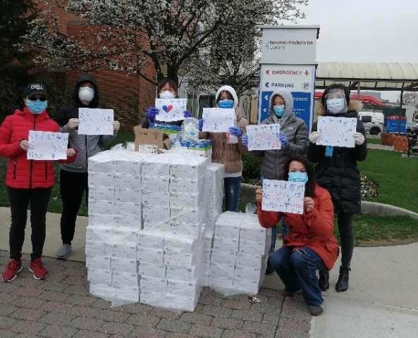 法拉盛快乐健身群联盟捐给皇后区长老医院一万多美元口罩物资 ..._图1-1