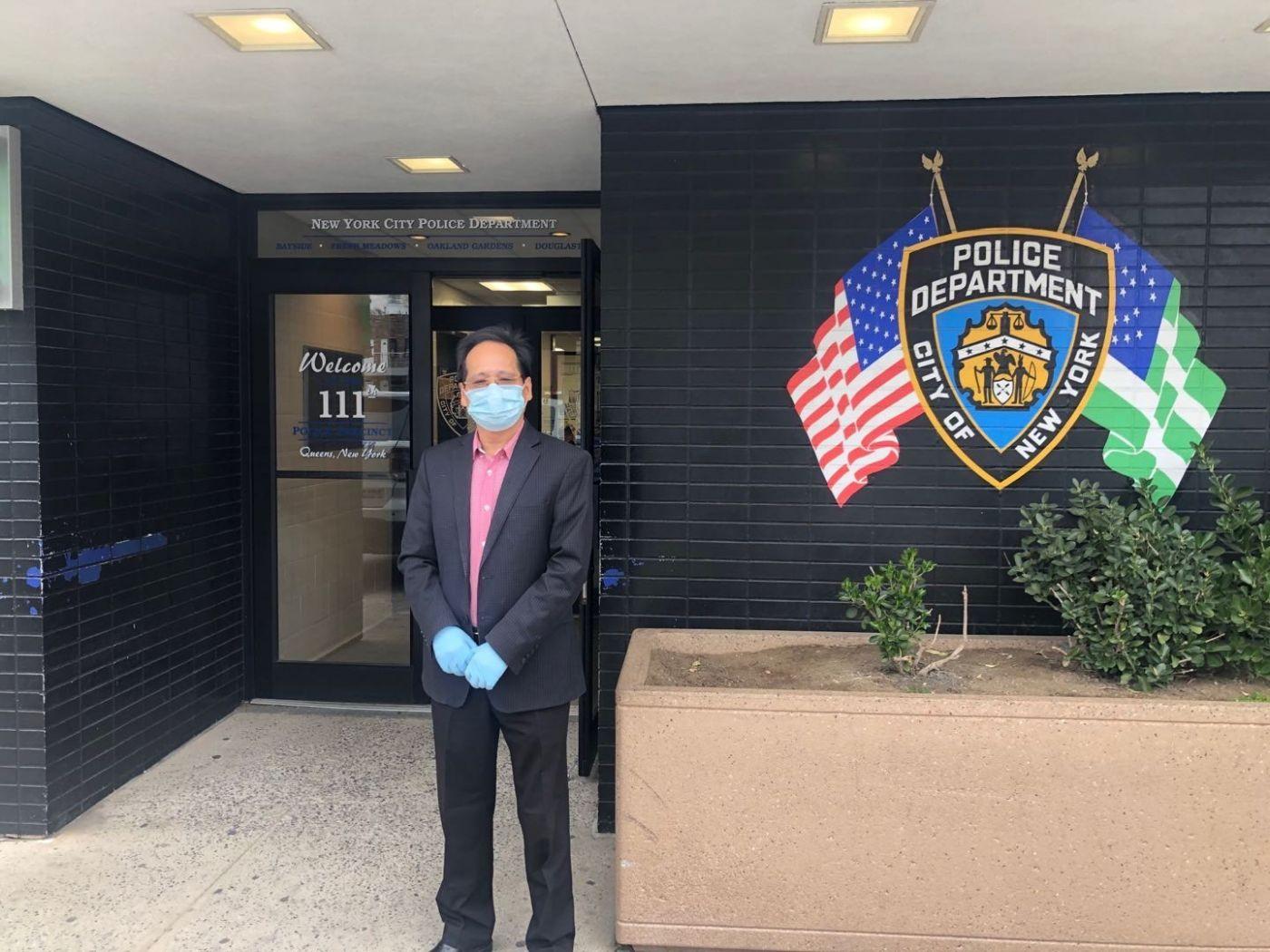 美國連江二中校友會送口罩到纽约警察局第111貝賽分局獻愛心 ..._图1-2