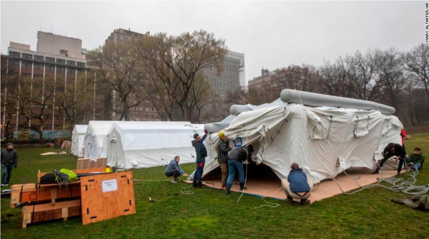 纽约中央公园内2天建成的方舱医院_图1-4