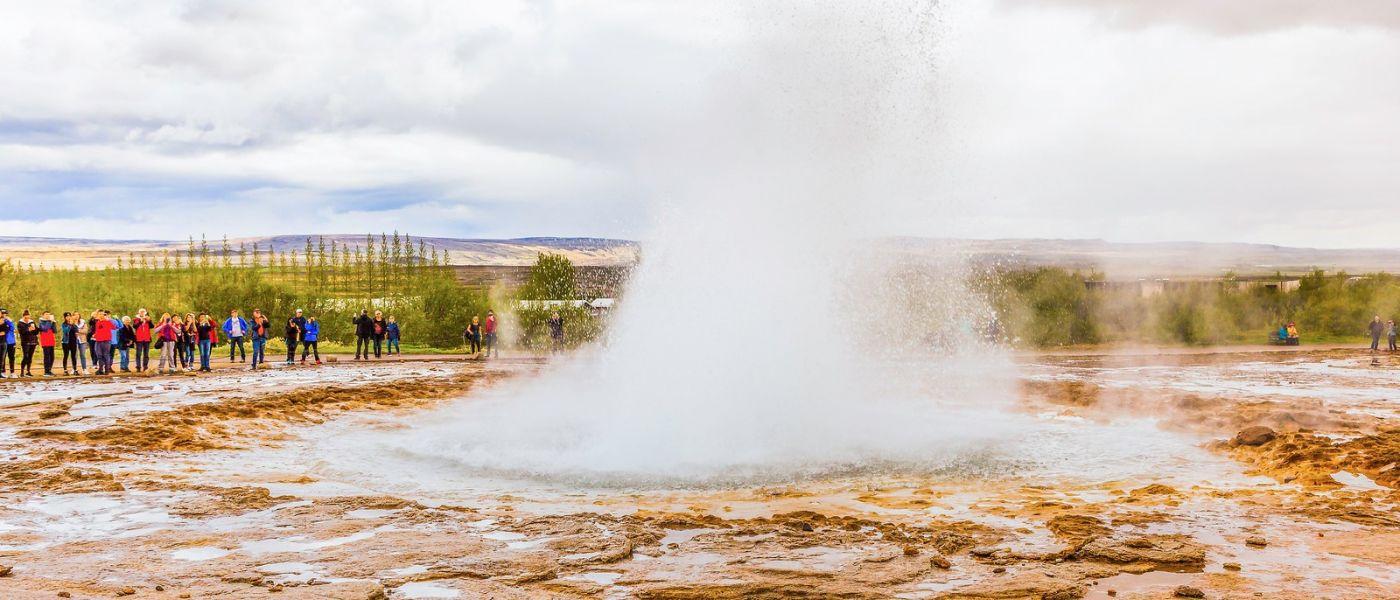 冰岛盖西尔(Geysir),热喷泉喷