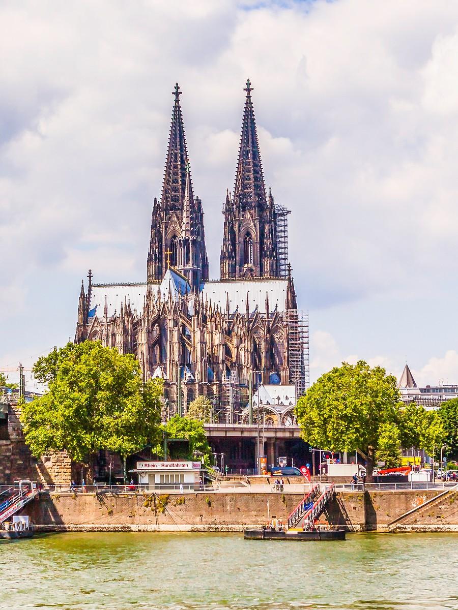 德国科隆大教堂,远看近瞧