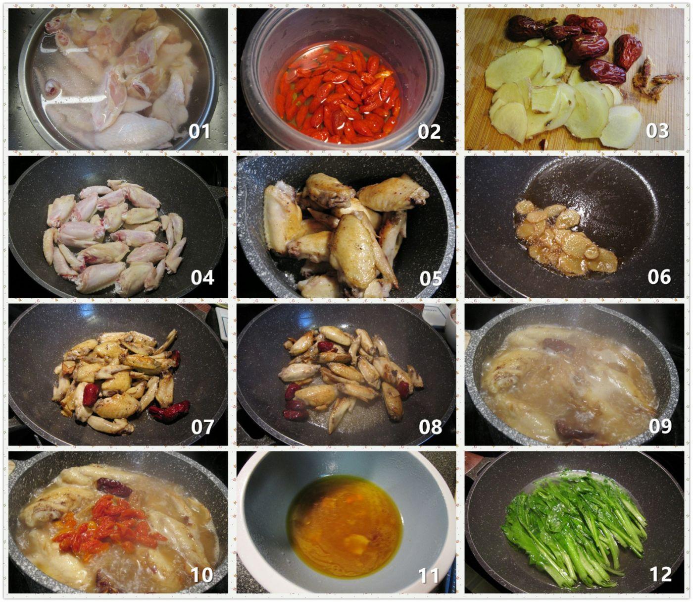 麻油鸡翅_图1-2