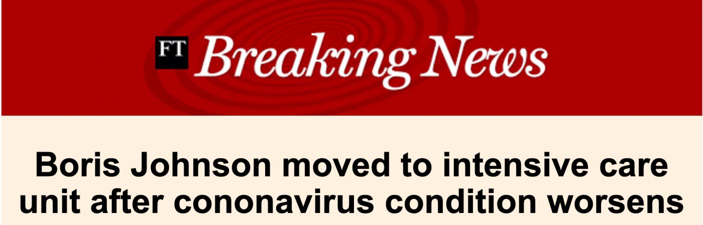 英国首相约翰逊病情恶化被送进ICU_图1-1