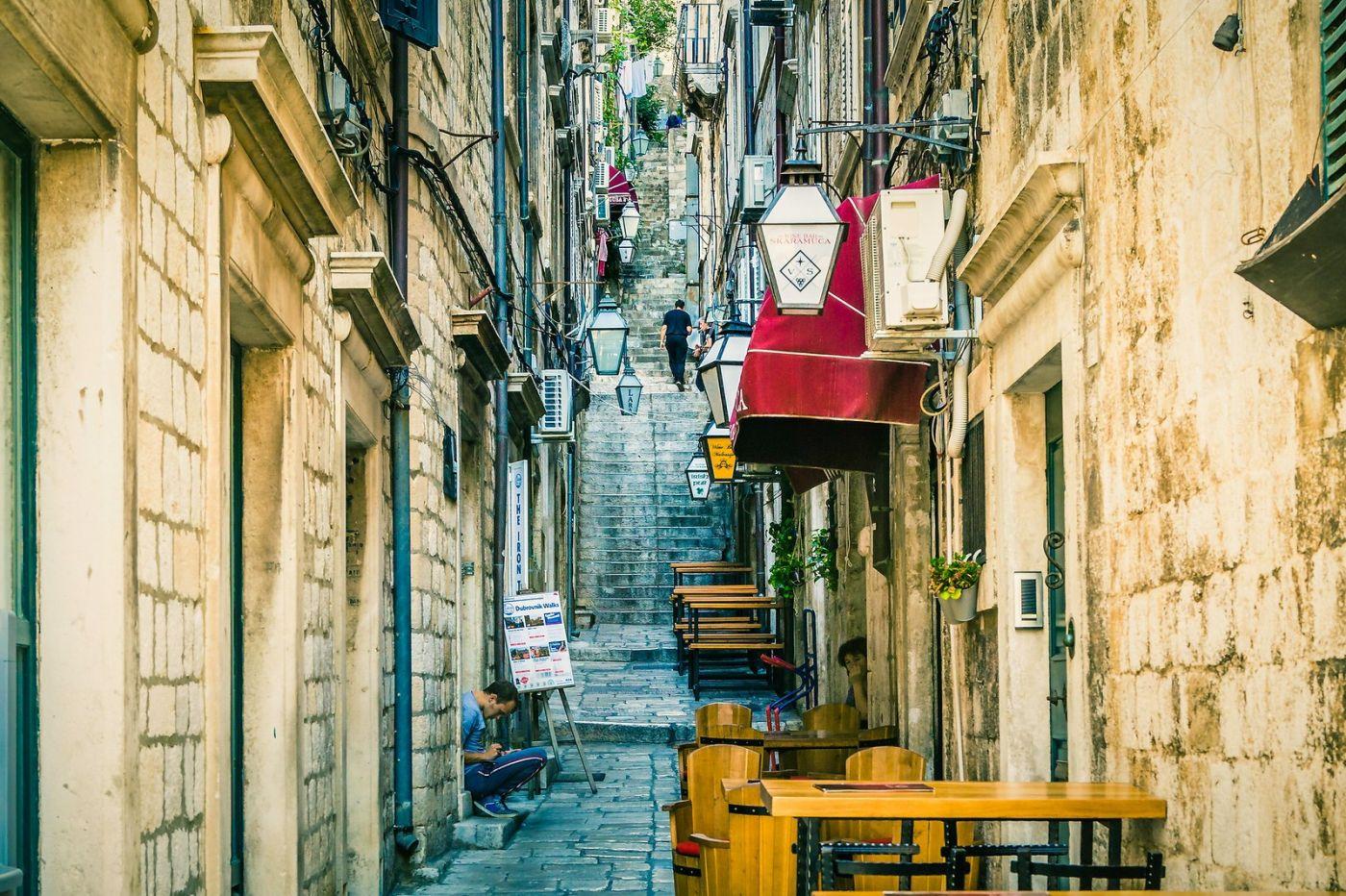 克罗地亚杜布罗夫尼克(Dubrovnik),古城小巷_图1-1