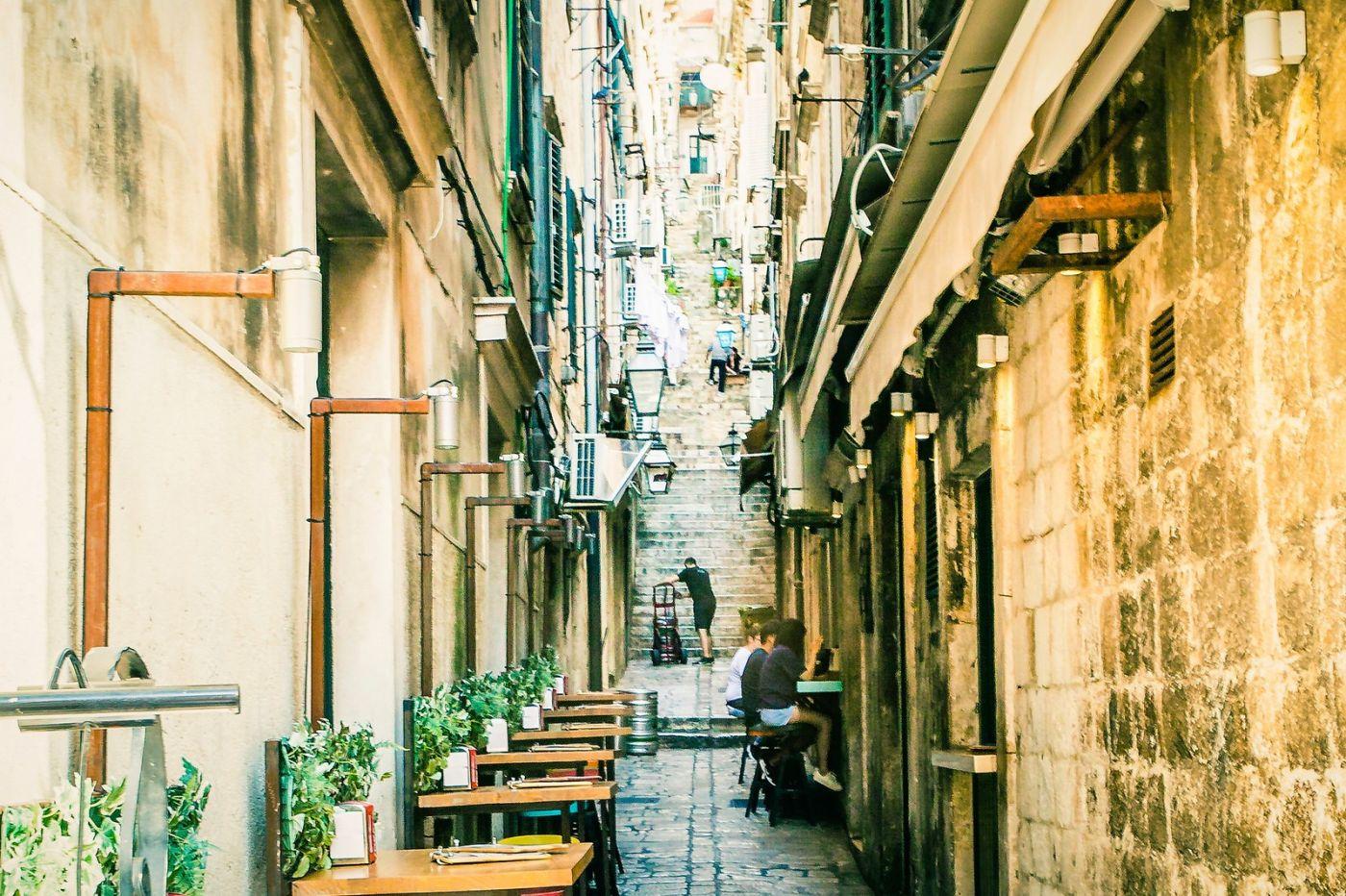 克罗地亚杜布罗夫尼克(Dubrovnik),古城小巷_图1-4