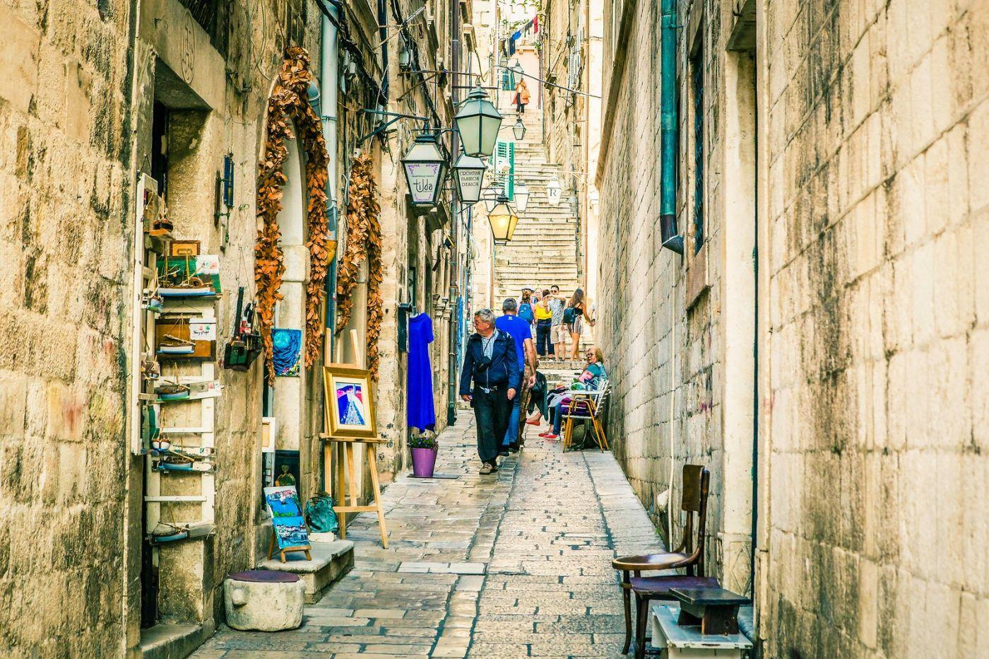 克罗地亚杜布罗夫尼克(Dubrovnik),古城小巷_图1-20