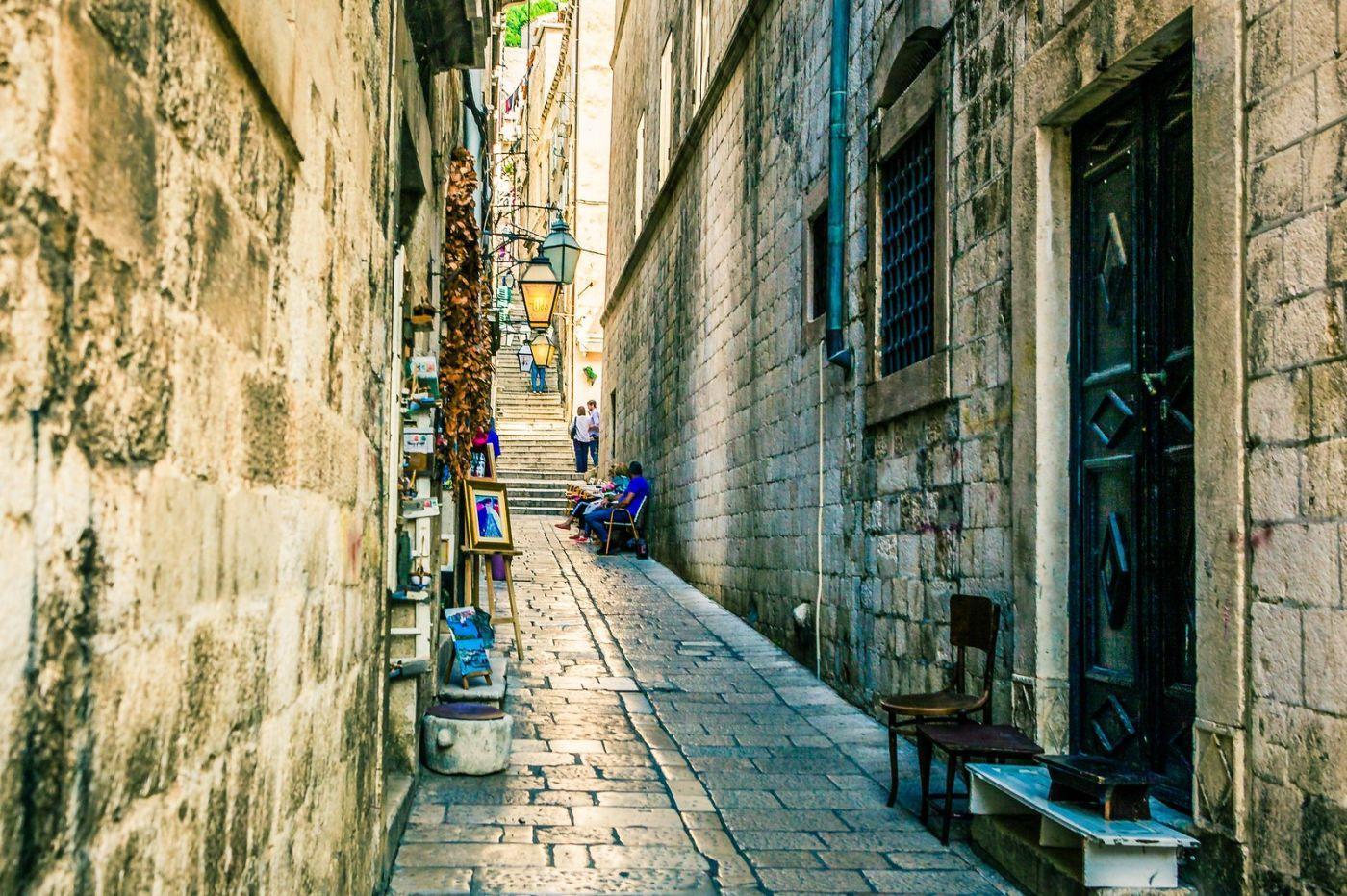 克罗地亚杜布罗夫尼克(Dubrovnik),古城小巷_图1-27