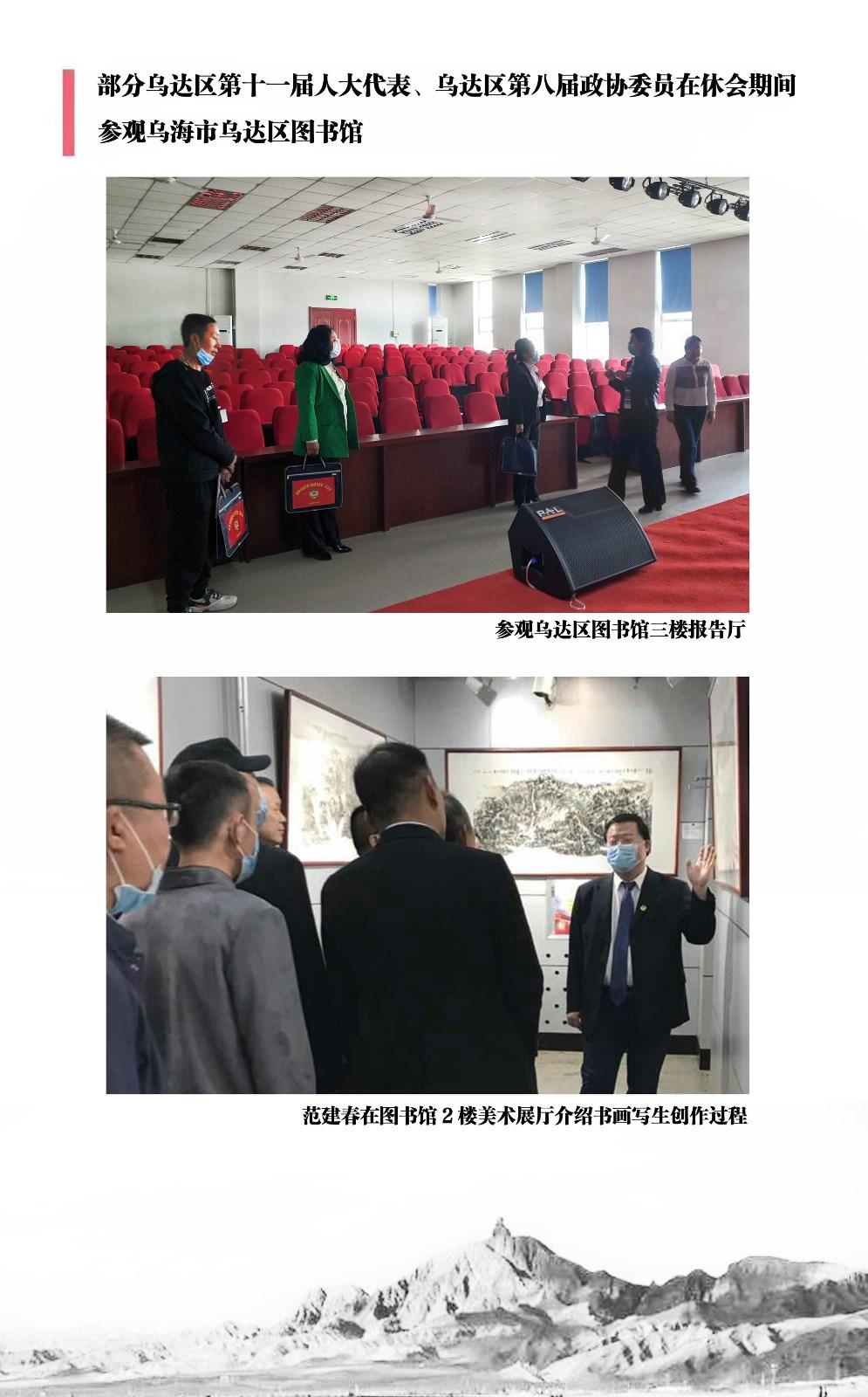 我区部分人大代表、政协委员参观内蒙古乌海市乌达区图书馆 ..._图1-4