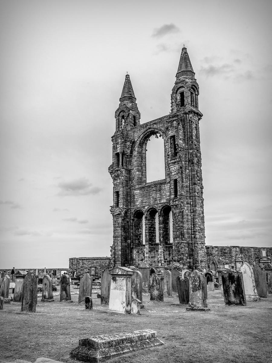苏格兰圣安德鲁主教座堂(Cathedral of St Andrew)遗迹,九百年历史 ..._图1-8