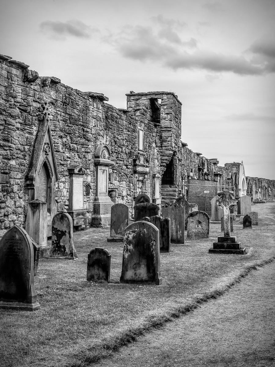 苏格兰圣安德鲁主教座堂(Cathedral of St Andrew)遗迹,九百年历史 ..._图1-13