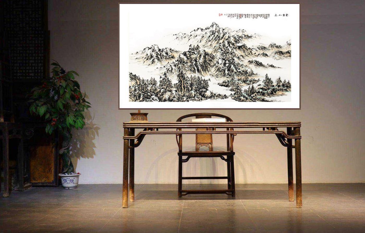 欢迎收藏范建春国画山水作品_图1-6