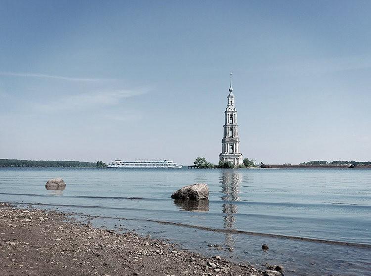 加里亚津被淹的钟楼_图1-2