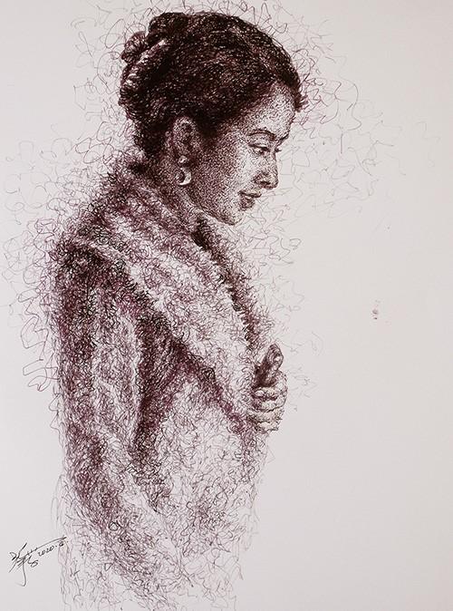 山雪钢笔画——2020集(春)_图1-4