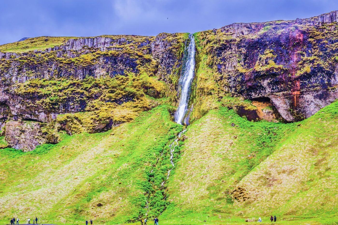 冰岛塞里雅兰瀑布(Seljalandsfoss),飞流直下_图1-20