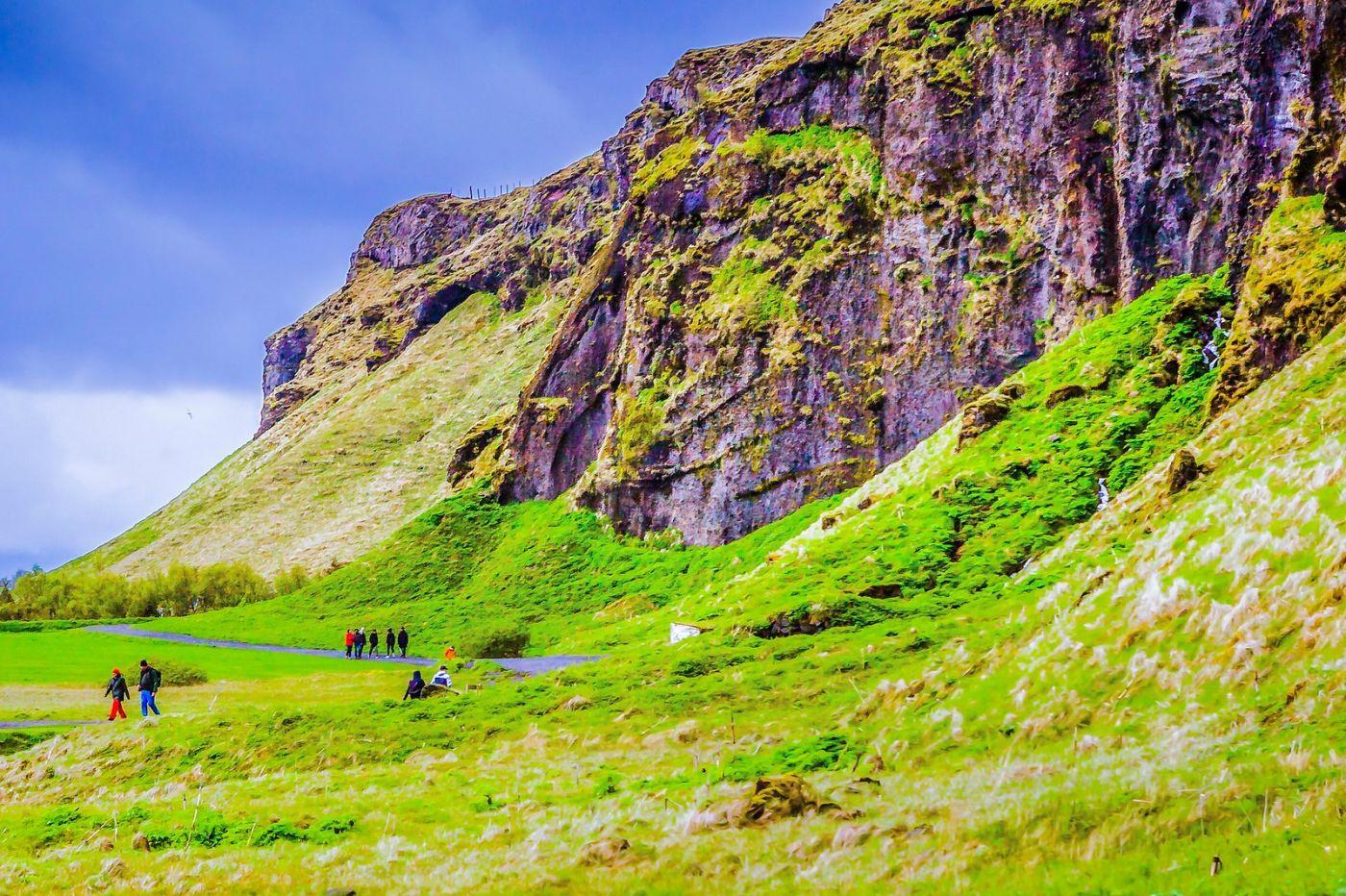 冰岛塞里雅兰瀑布(Seljalandsfoss),飞流直下_图1-13