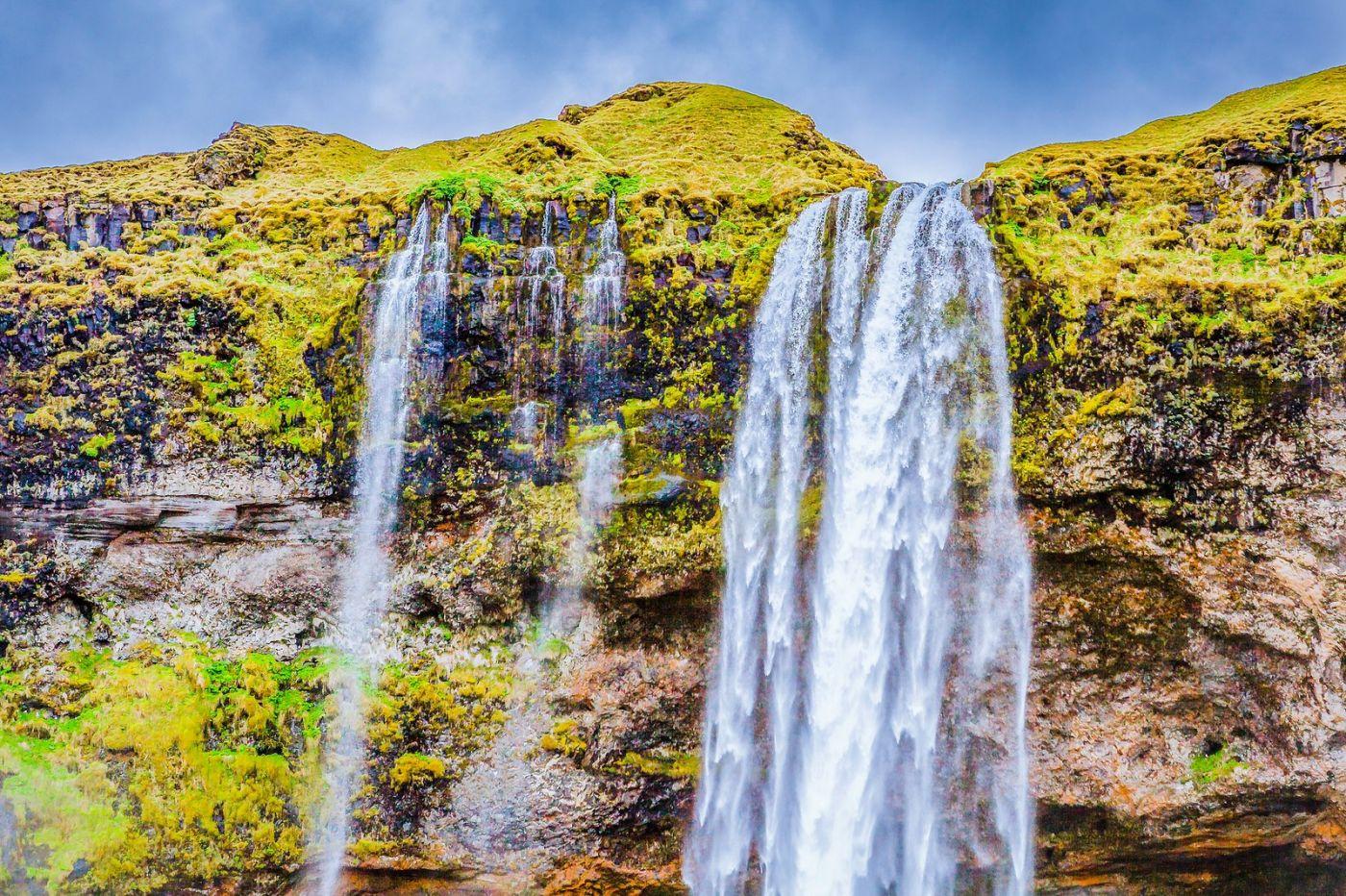 冰岛塞里雅兰瀑布(Seljalandsfoss),飞流直下_图1-7