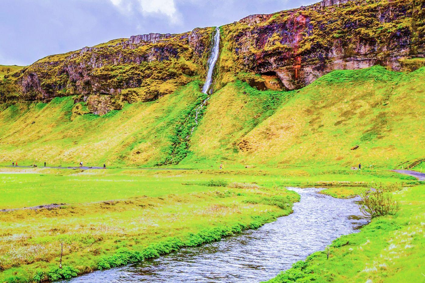 冰岛塞里雅兰瀑布(Seljalandsfoss),飞流直下_图1-3
