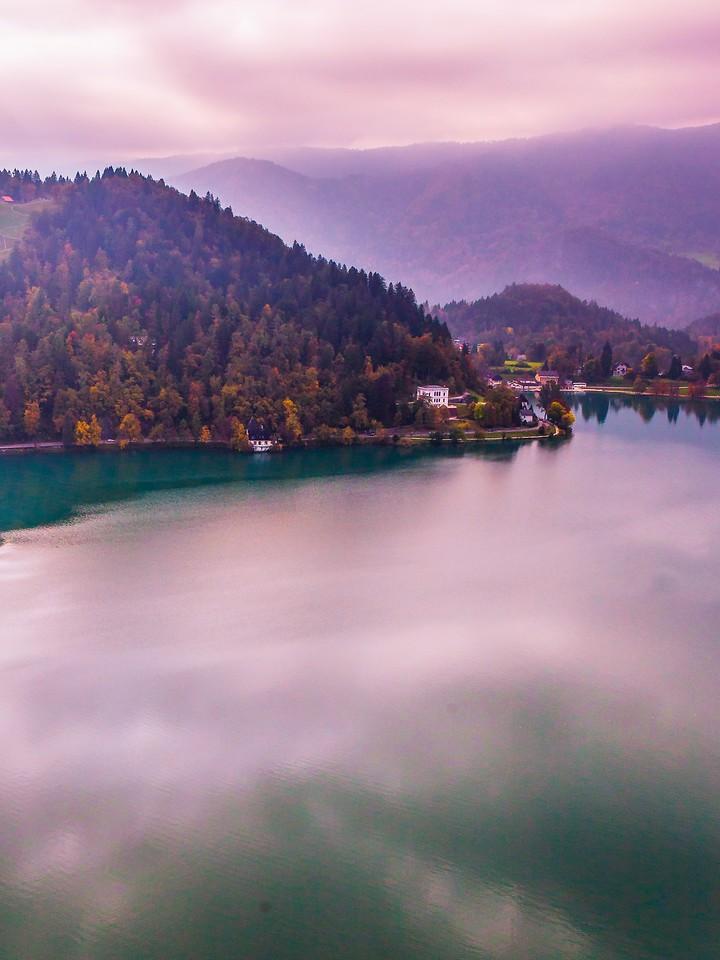 斯洛文尼亚布莱德湖(Lake Bled),清晨湖色_图1-19