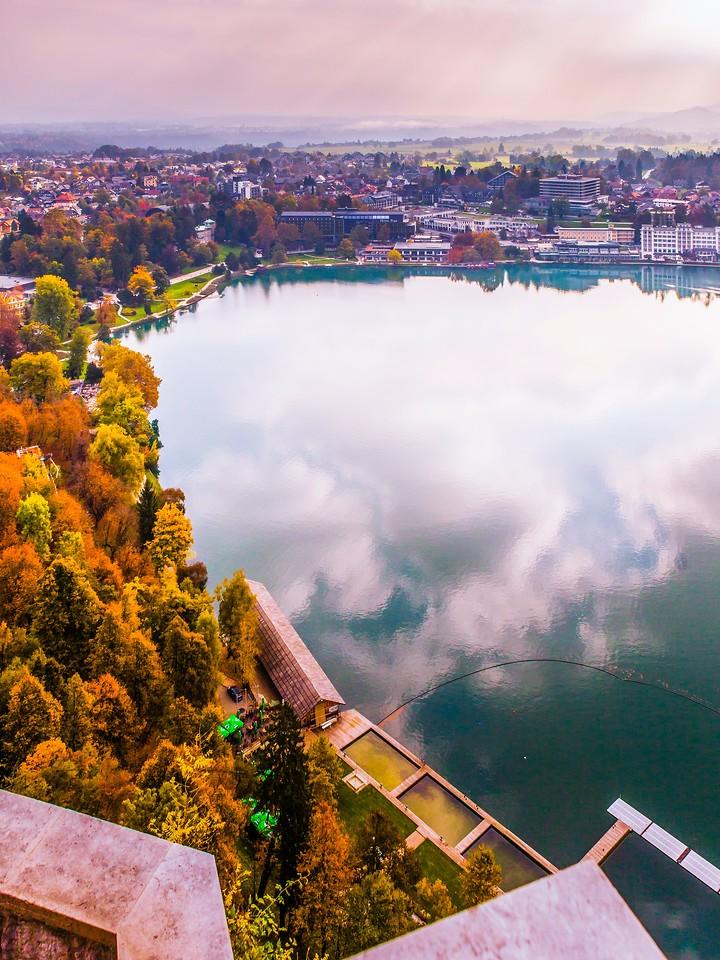 斯洛文尼亚布莱德湖(Lake Bled),清晨湖色_图1-18