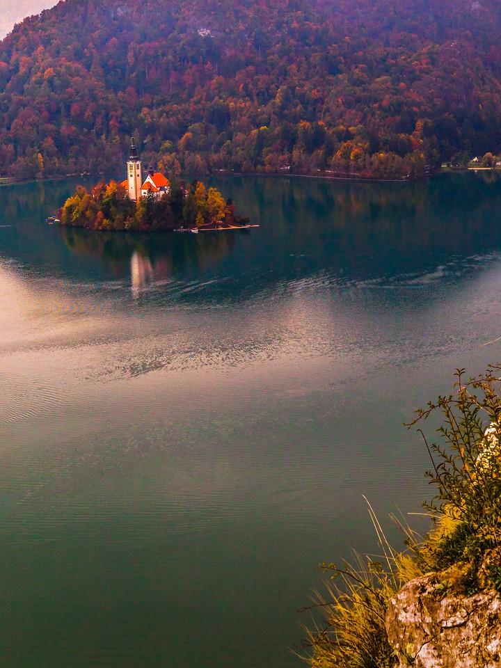 斯洛文尼亚布莱德湖(Lake Bled),清晨湖色_图1-6