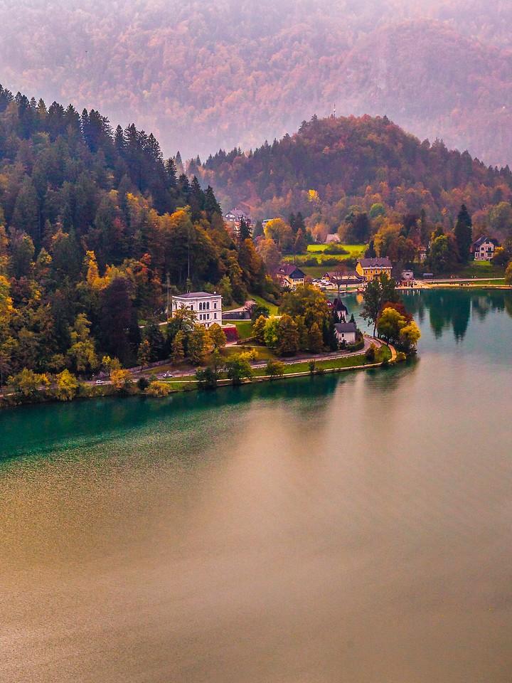 斯洛文尼亚布莱德湖(Lake Bled),清晨湖色_图1-12