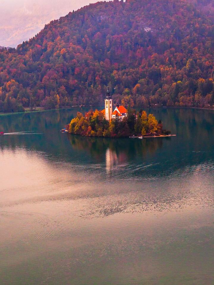 斯洛文尼亚布莱德湖(Lake Bled),清晨湖色_图1-10