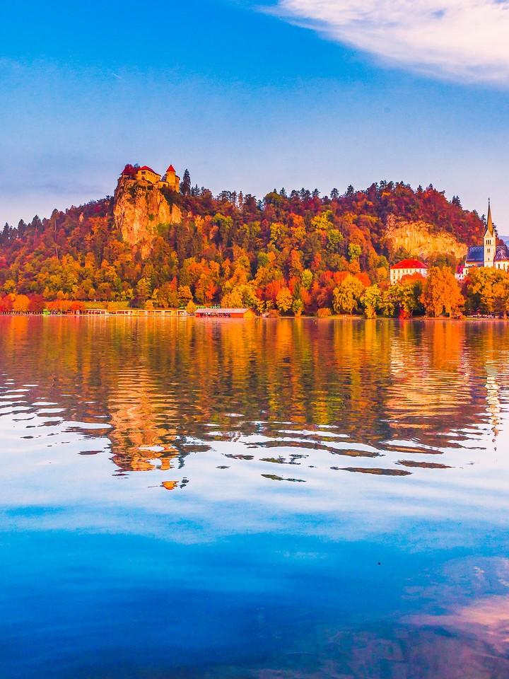 斯洛文尼亚布莱德湖(Lake Bled),清晨湖色_图1-1