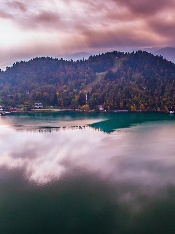 斯洛文尼亚布莱德湖(Lake Bled),清晨湖色_图1-11