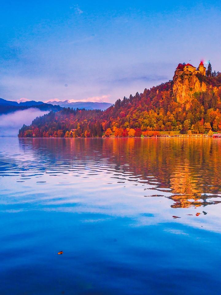 斯洛文尼亚布莱德湖(Lake Bled),清晨湖色_图1-2