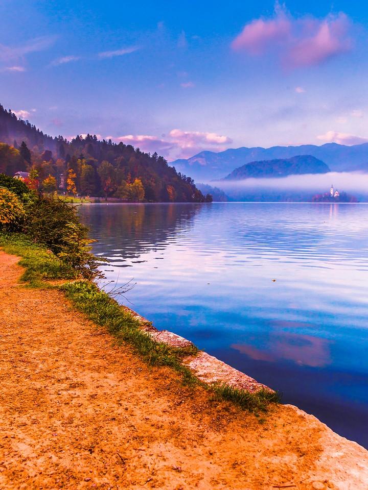 斯洛文尼亚布莱德湖(Lake Bled),清晨湖色_图1-8