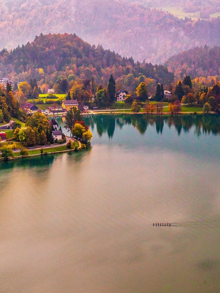 斯洛文尼亚布莱德湖(Lake Bled),清晨湖色_图1-3